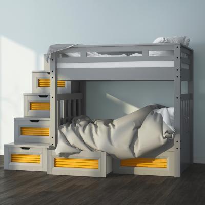 现代楼梯式双层儿童床