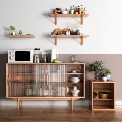 北欧装饰柜架 餐具组合