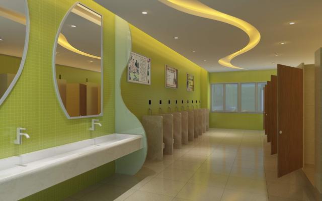 现代公共洗手间