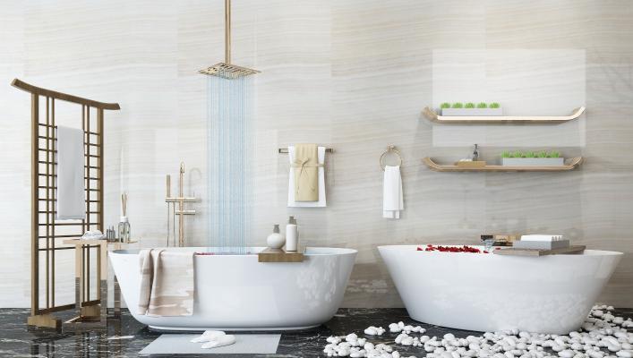 现代浴室浴缸