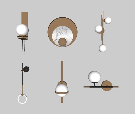 现代圆形轻奢壁灯