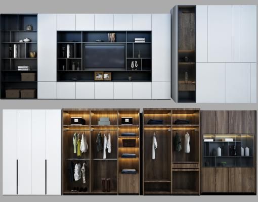 现代衣柜 木质衣柜门