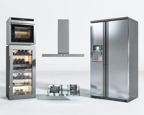 现代烤箱 油烟机 煤气灶 冰箱 厨房 电器