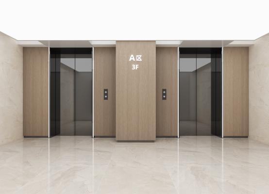 现代公共空间电梯厅
