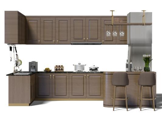 現代廚房櫥柜 廚具 吧臺