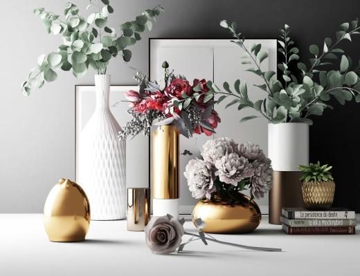 现代花艺 陈设 花瓶