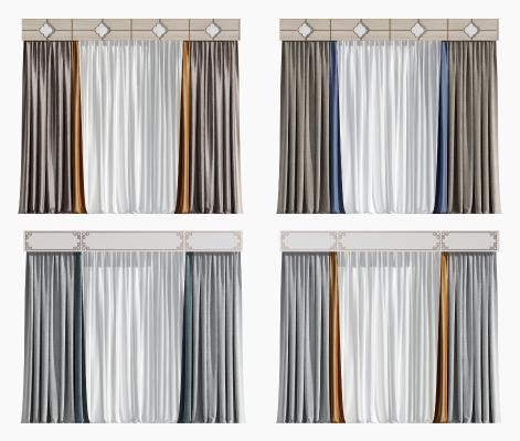 新中式布艺窗纱 窗帘