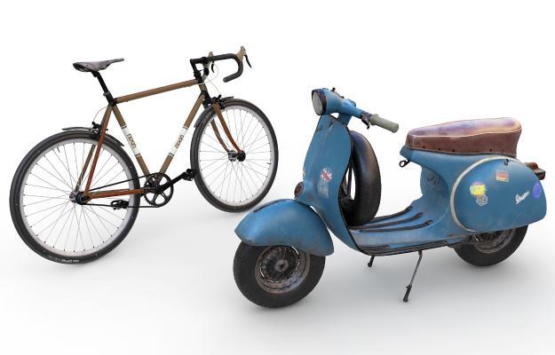 欧式摩托车 机车 自行车