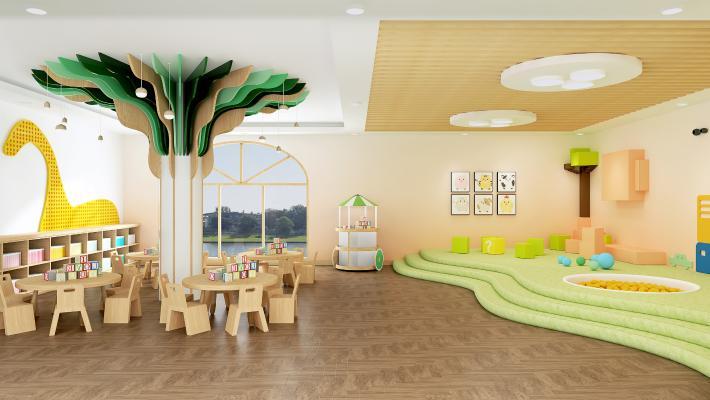 北欧幼儿园 活动休闲室