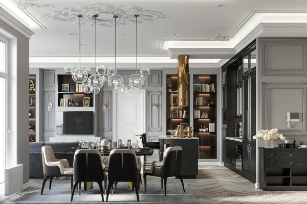 歐式法式餐廳廚房