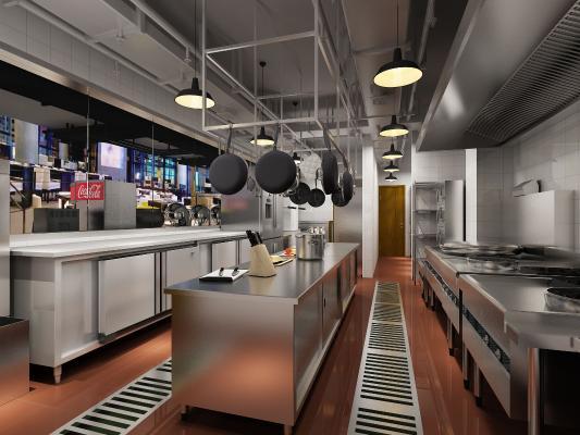 現代酒店廚房 后廚 不銹鋼廚房設備