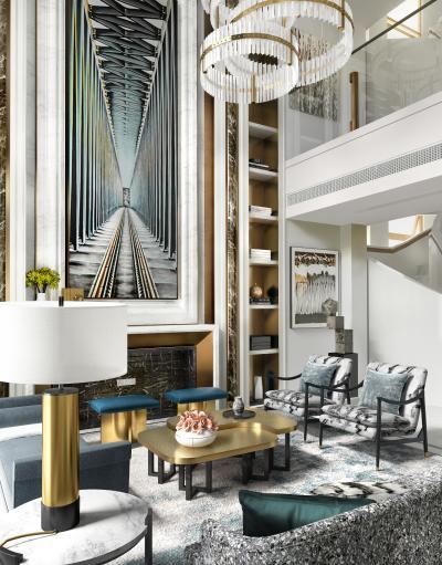 现代复式客厅