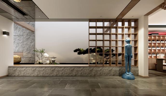 新中式水景园艺小品