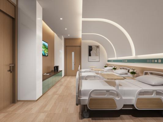 现代医院病房 病床 护理病房