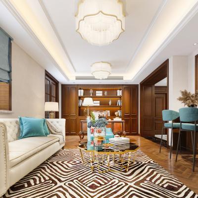 美式風格書房 會客室