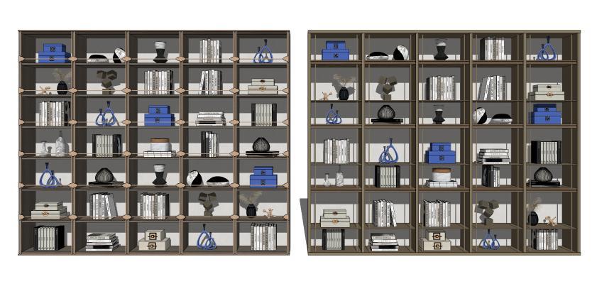 新中式书架