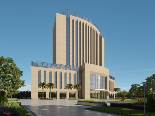 现代政府办公楼