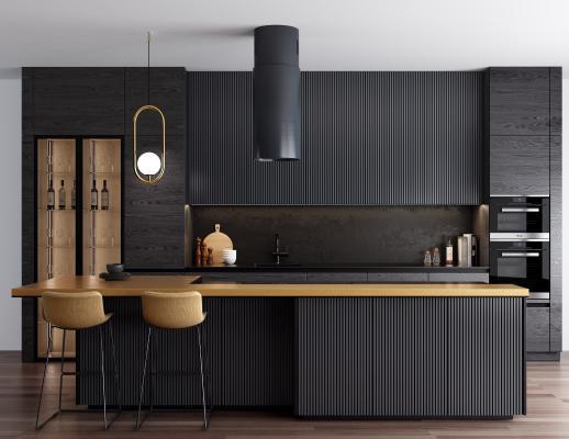现代厨房吧台