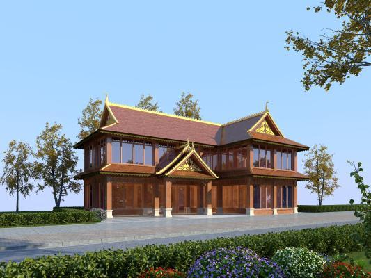 东南亚风格建筑 酒店