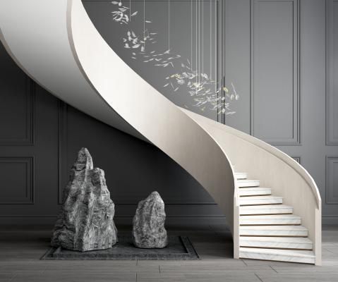 现代旋转楼梯 雕塑 装饰品摆件