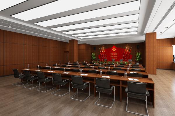 现代党建会议室 会议桌