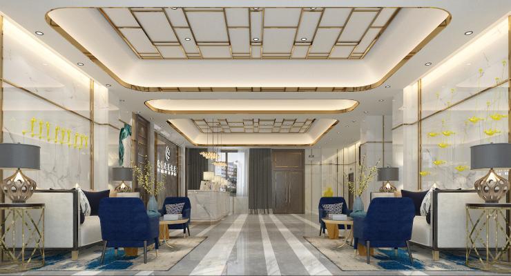 现代轻奢酒店大厅