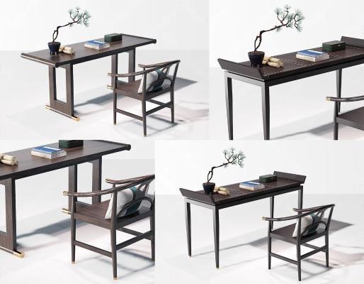 新中式书桌椅