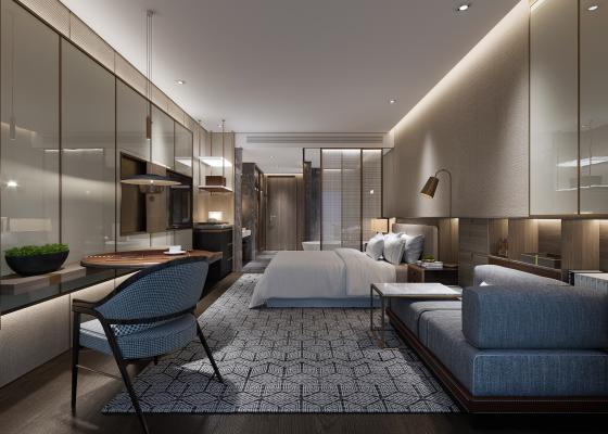 现代酒店客房淋浴房