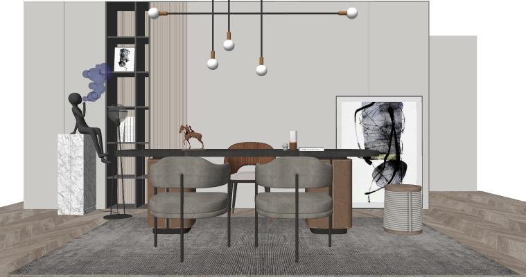现代家居书房 书桌椅组合