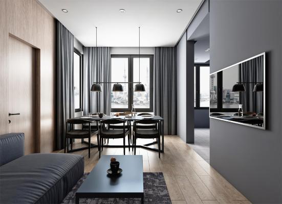 北欧公寓客餐厅