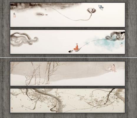 現代新中式裝飾畫,掛畫