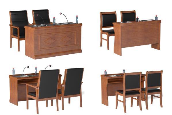 现代会议桌椅 长条桌椅组合 办公桌椅