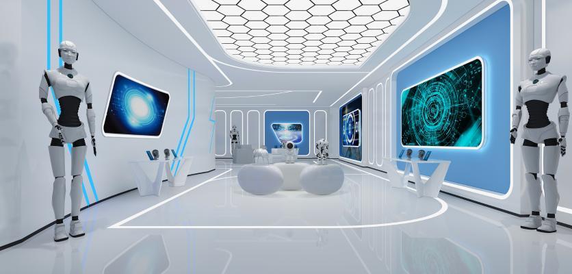 现代智能机器人展厅
