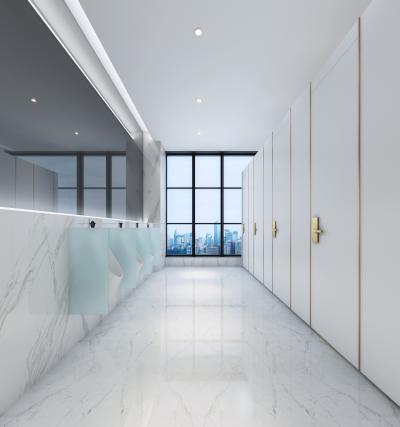 现代酒店卫生间 走廊