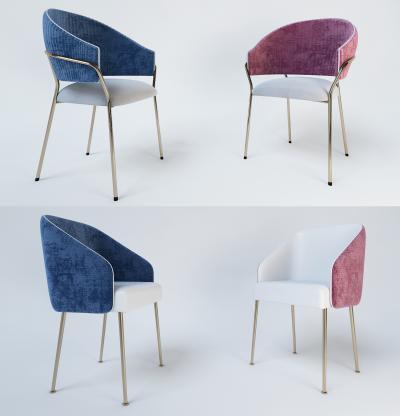 现代轻奢餐厅椅