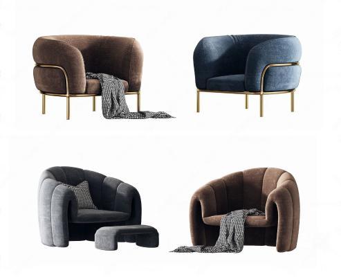 現代单人沙發组合