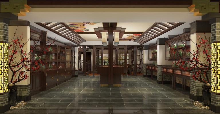 中式珠宝首饰展厅