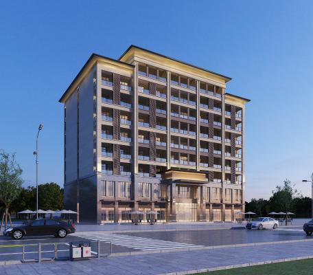 现代酒店建筑外观