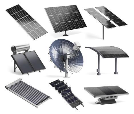 现代太阳能电池板