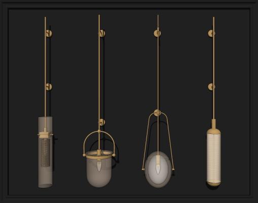 现代玻璃壁灯