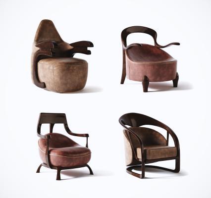 美式簡約休閑椅