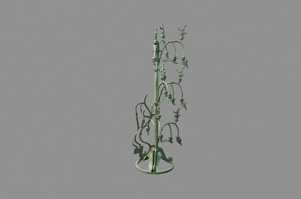 中式三星堆青铜神树