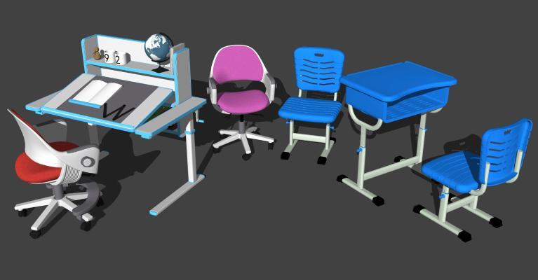 现代儿童学习桌椅 幼儿园桌椅 幼儿园课桌