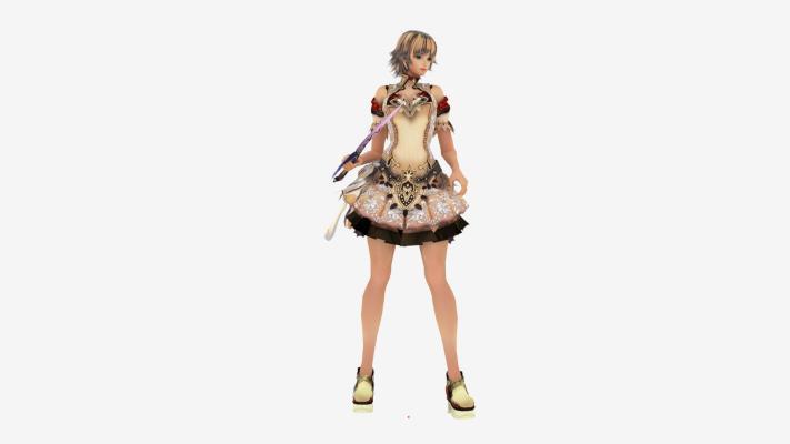 现代游戏角色 匕首美女