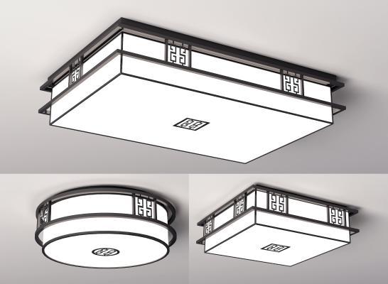 新中式吸顶灯 圆形吸顶灯 客厅吸顶灯