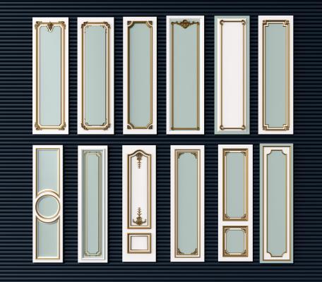 欧式简约风格建筑构件 护墙板组合