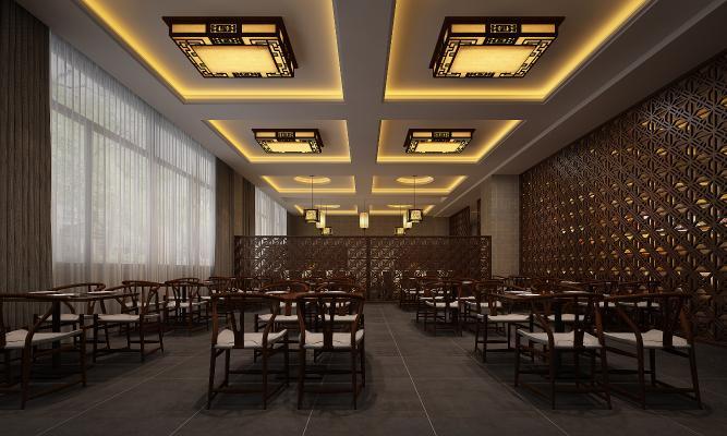 新中式餐饮 大厅