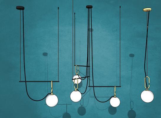 现代灯泡吊灯组合