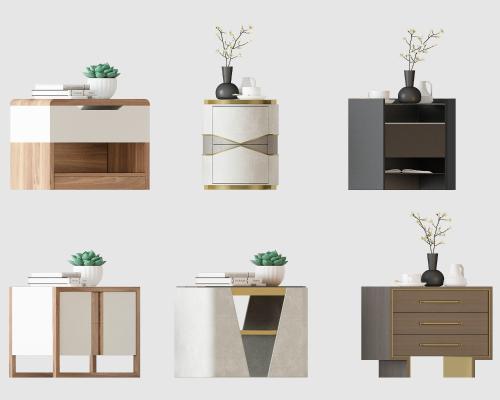 现代轻奢新中式床头柜