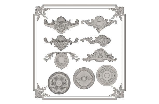 欧式石膏雕花 角花